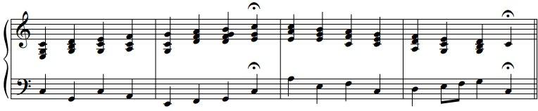 Harmoniser une gamme majeure