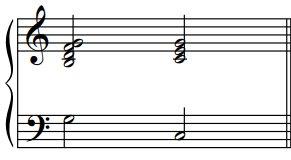 Les cadences parfaites en do, exemple1
