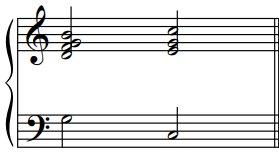 Les cadences parfaites en do, exemple2
