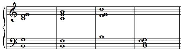 Les renversements des accords de septième de dominante, exemple2