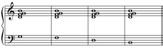 Les renversements des accords de septième de dominante, exemple3