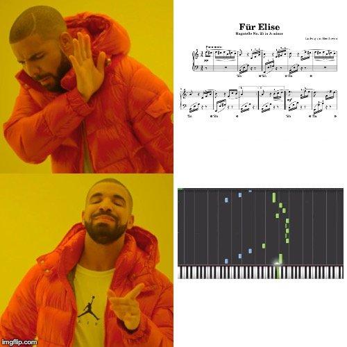 Apprendre la Lettre à Elise, Drake