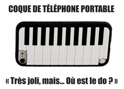 Coque de téléphone piano.
