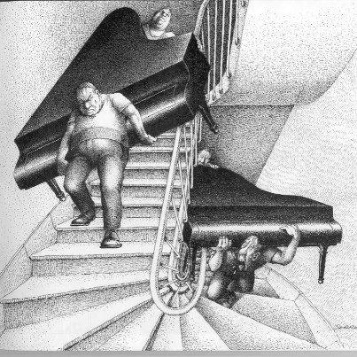 Déménageurs de piano, c'est un métier !