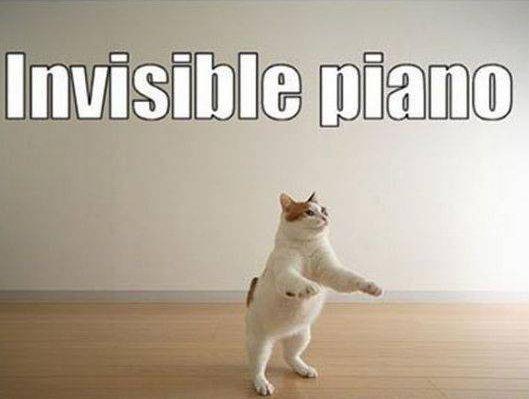 Piano invisible