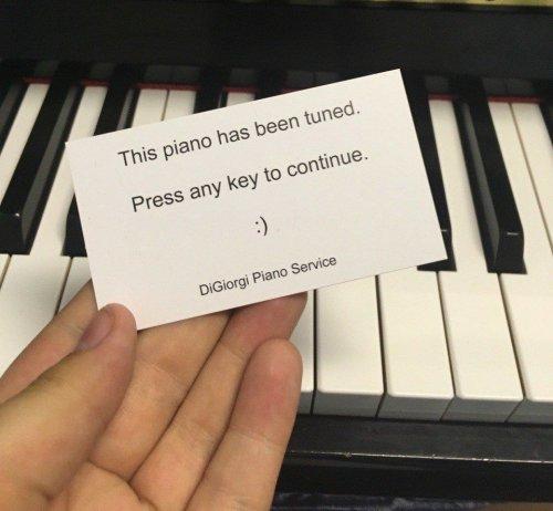 Ce piano a été accordé.