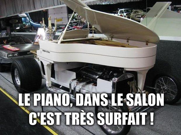 Le piano, dans le salon, c'est très surfait !