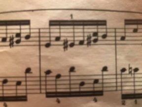 Exemple de Mi#, 3, Chopin