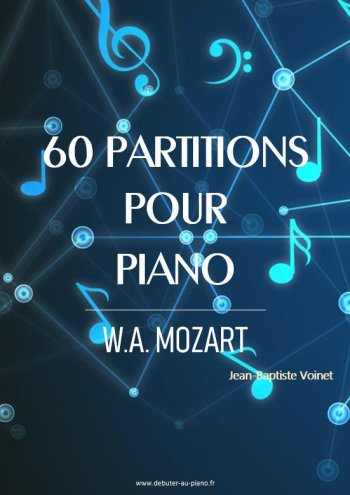 60 partitions pour piano de W.A. Mozart
