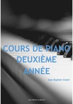 Deuxième année, tous les cours de piano