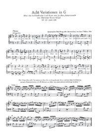 8 variations sur le thème Laat ons Juichen, Batavieren - W.A. Mozart
