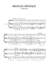 Partitions Pour Piano De Claude Debussy
