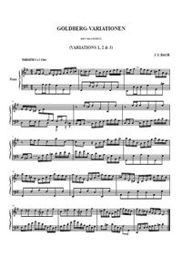 Variations Goldberg 1, 2, 3 - Johann Christian Bach