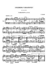 Variations Goldberg 4, 5, 6 - Johann Christian Bach