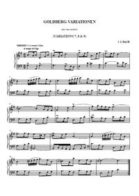 Variations Goldberg 7, 8, 9 - Johann Christian Bach