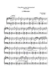 5 pièces pour harmonium - César Franck