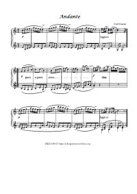 Andante - Carl Czerny