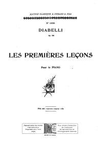 Les douze premières leçons - Anton Diabelli