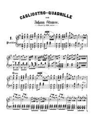 Cagliostro quadrille - Johann Strauss