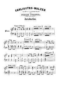 Cagliostro valse - Johann Strauss