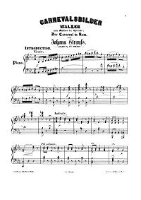 Images de carnaval - Johann Strauss