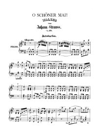 O schöner mai - Johann Strauss