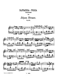 Pappacoda polka - Johann Strauss