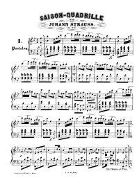 Saison quadrille - Johann Strauss