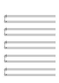 Papier à musique - 5 lignes