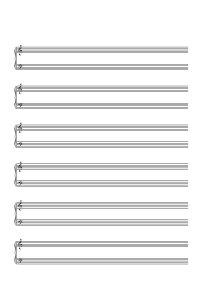 Papier à musique - 6 lignes