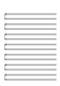 Papier à musique - 7 lignes