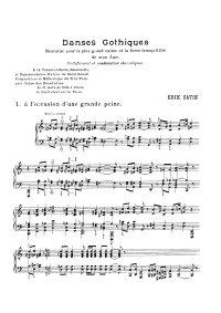 Danses gothiques - Erik Satie