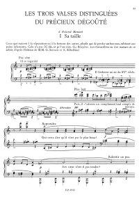 Les trois valses distinguées du précieux dégouté - Erik Satie
