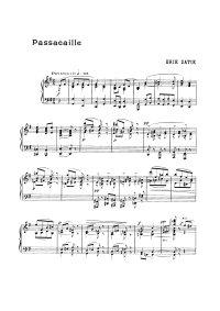 Passacaille - Erik Satie