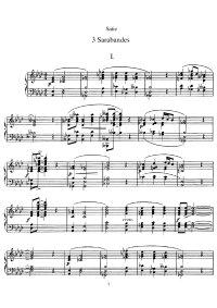 Trois sarabandes - Erik Satie